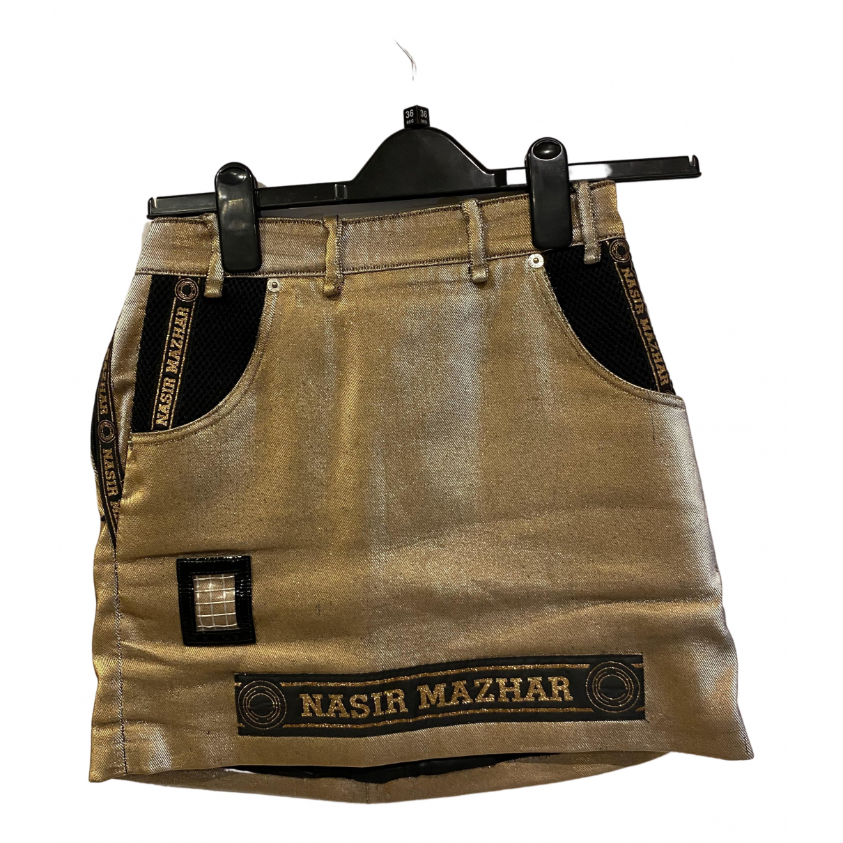 Nasir Mahzar - Jupe   pour femme en coton - dore