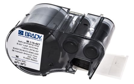 Brady Cable Label Labelling Cartridge, For Use With BMP51 Label Printer, BMP53 Label Printer