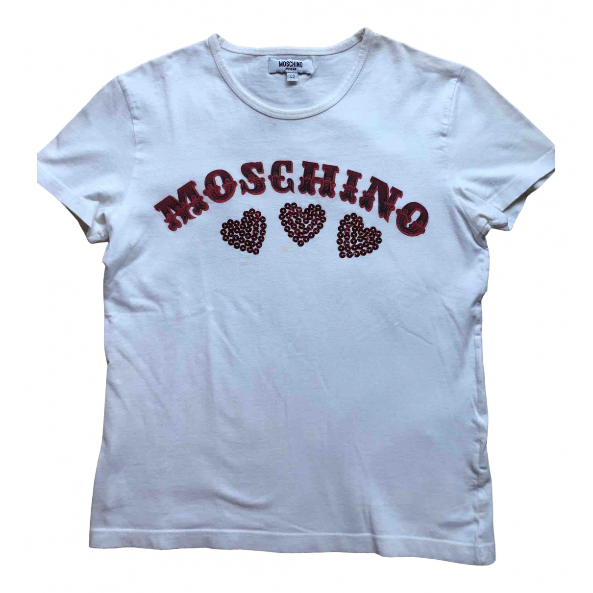 Moschino \N White Cotton  top for Women 38 IT