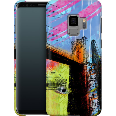 Samsung Galaxy S9 Smartphone Huelle - Pop Brooklyn Bridge von Mark Ashkenazi