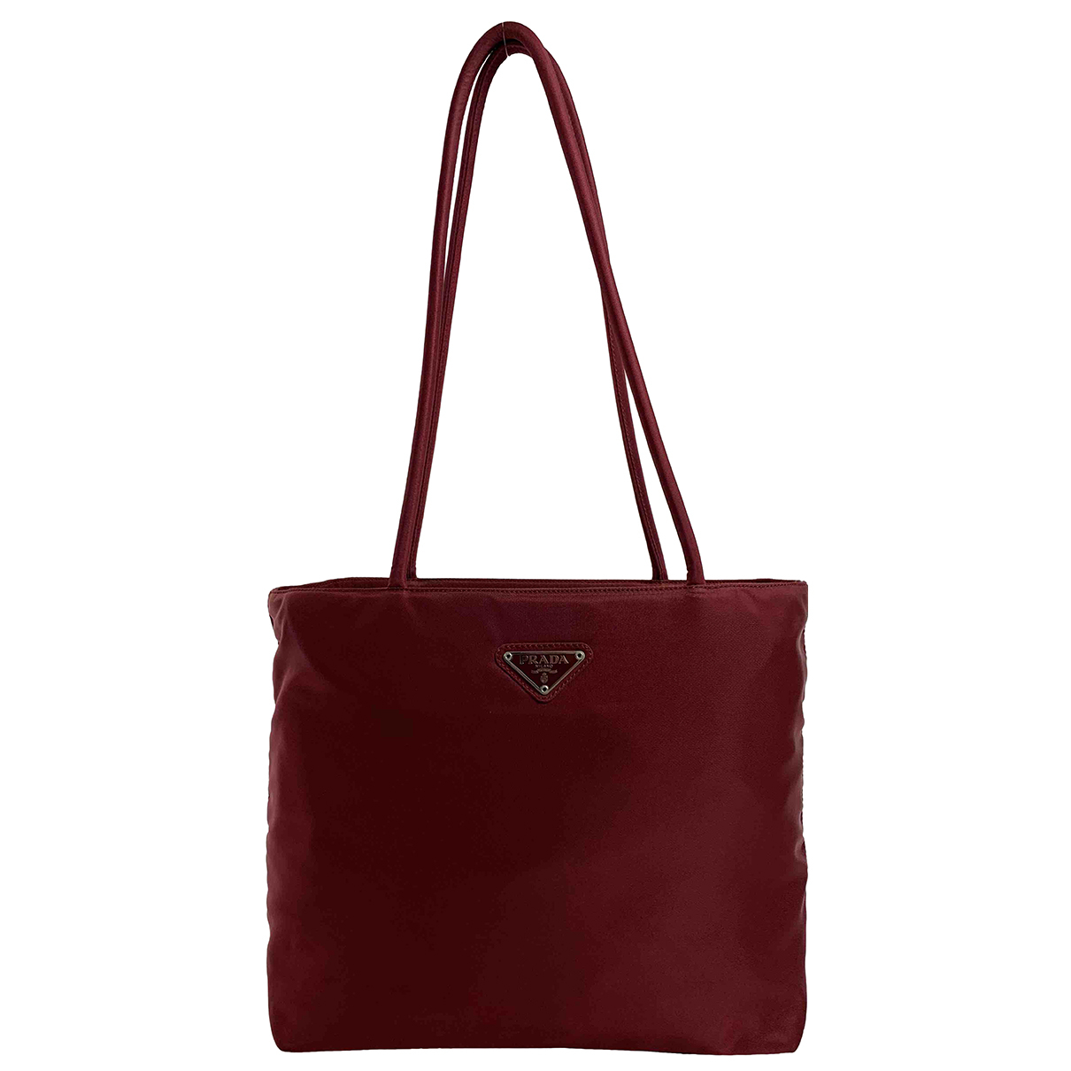 Prada Tessuto city Red Cloth handbag for Women N