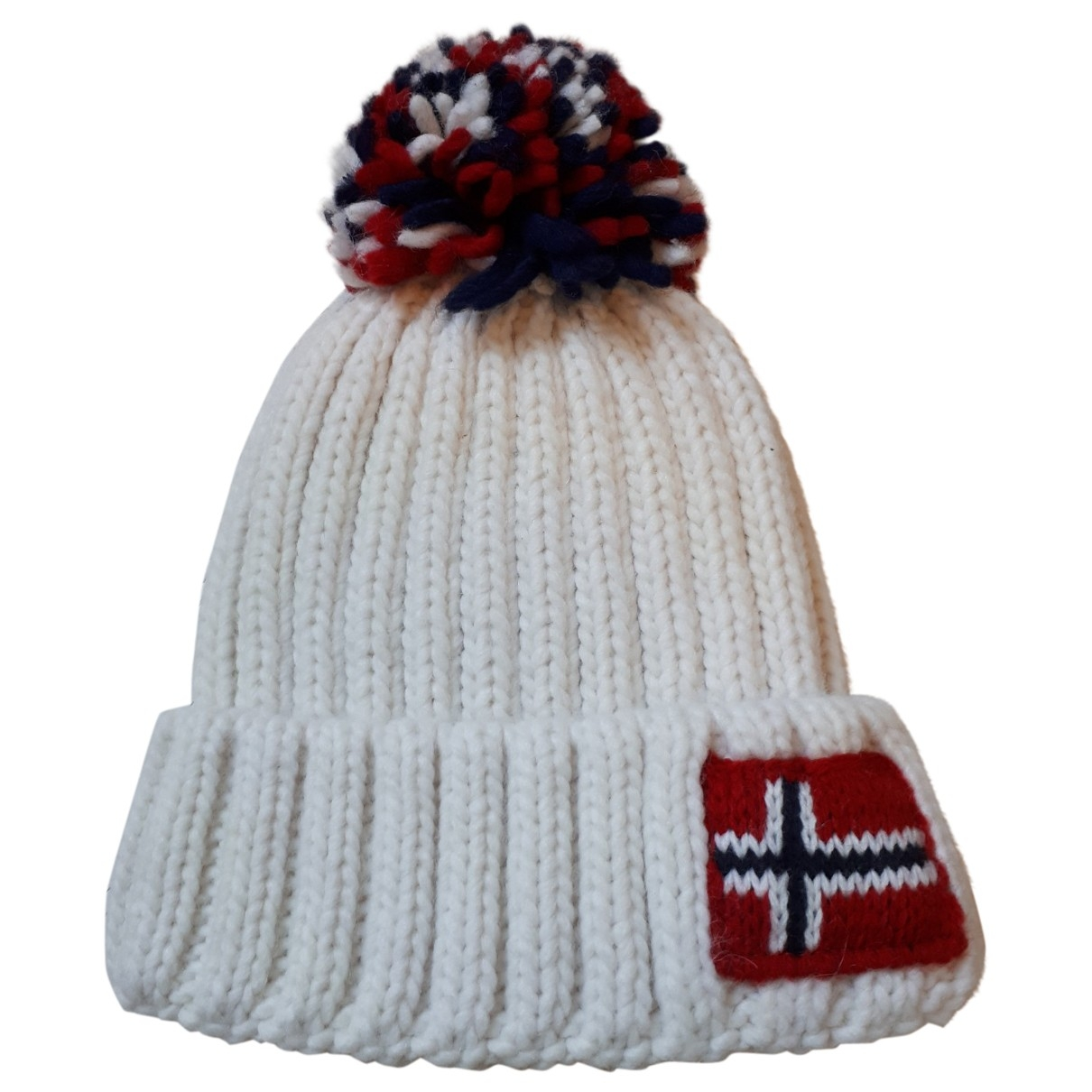 Napapijri - Chapeaux.Bonnets.Gants   pour enfant en laine - blanc