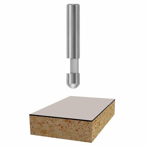 Bosch 1/4 In. x 1/4 In. Solid Carbide 1-Flute Flush Trim Bit