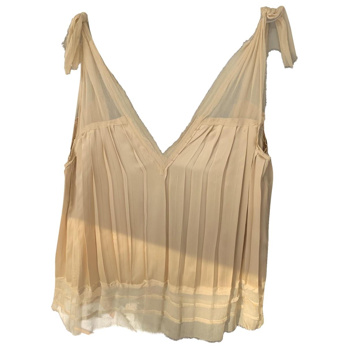 Philosophy Di Alberta Ferretti \N Ecru Silk  top for Women 42 IT