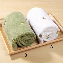 1pc Avocado Embroidery Face Towel