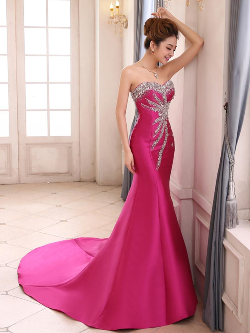 Graceful Sweetheart Mermaid Beading Lace-up Evening Dress