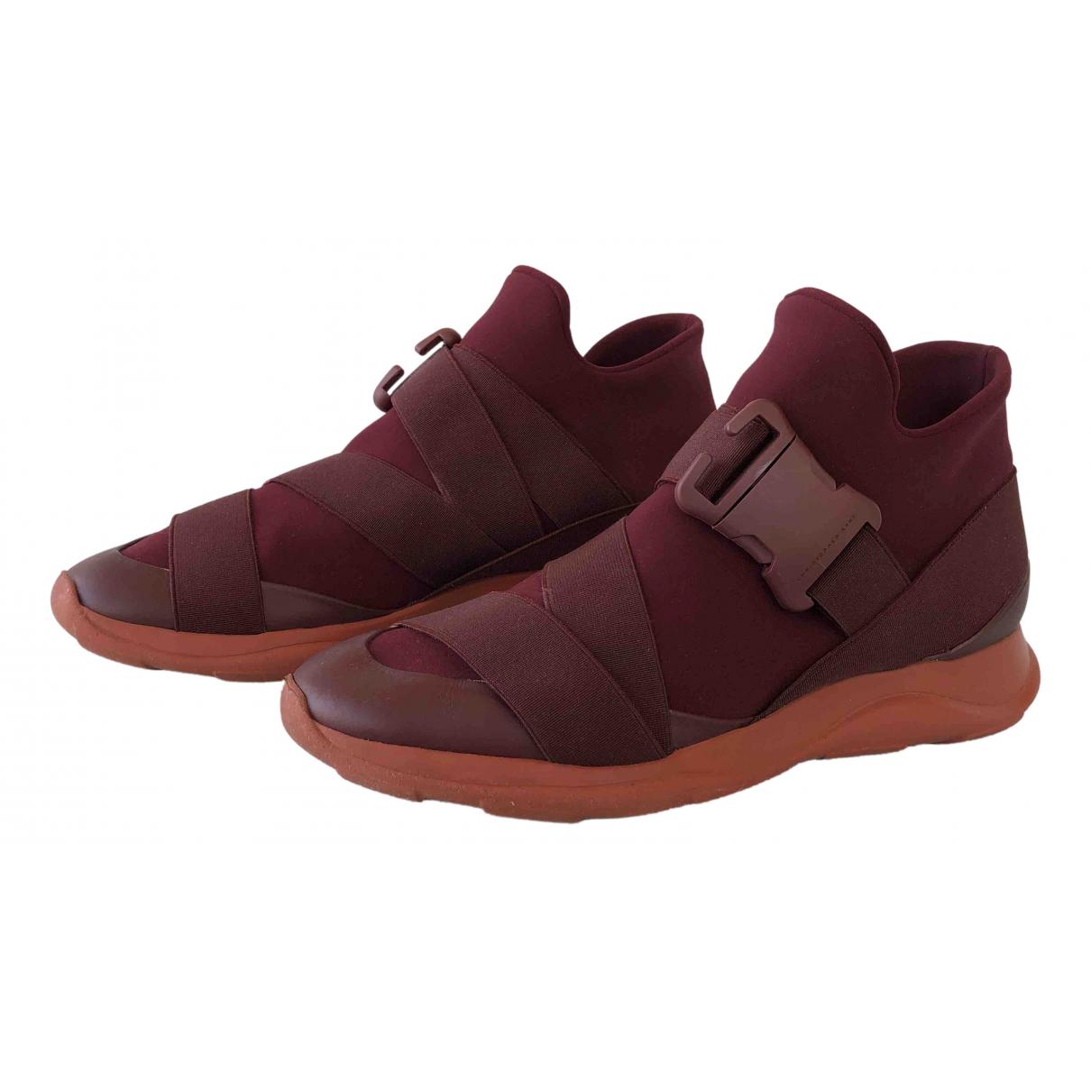 Christopher Kane \N Sneakers in  Bordeauxrot Leinen