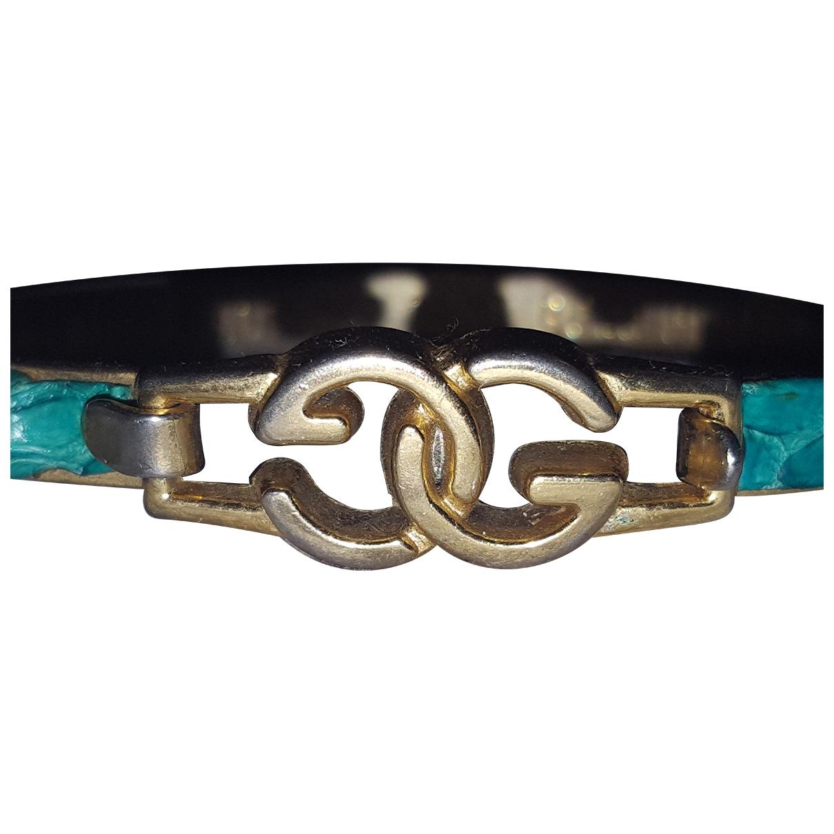 Gucci - Bracelet   pour femme en cuir exotique - vert