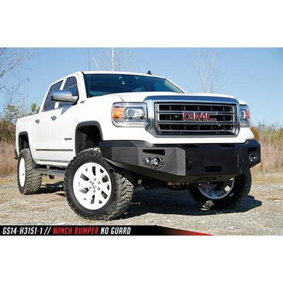 Fab Fours Premium Winch Bumper with No Grill Guard (Black) - GS14-H3151-1