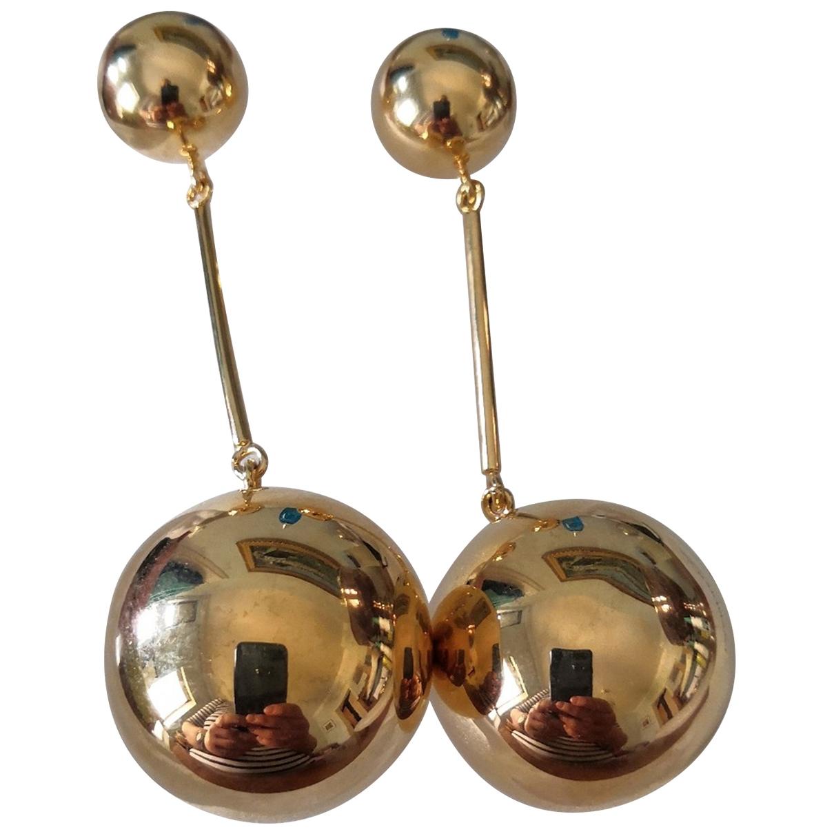 J.w. Anderson - Boucles doreilles   pour femme en metal - dore