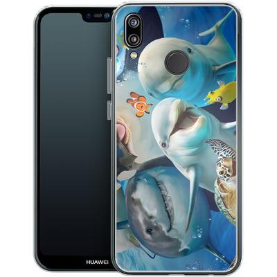 Huawei P20 Lite Silikon Handyhuelle - Ocean Selfie von Howard Robinson