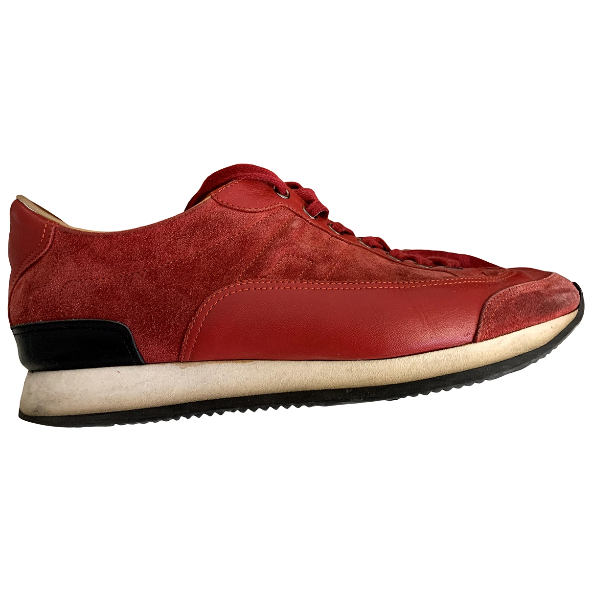 Hermès Goal Red Leather Trainers for Men 42 EU
