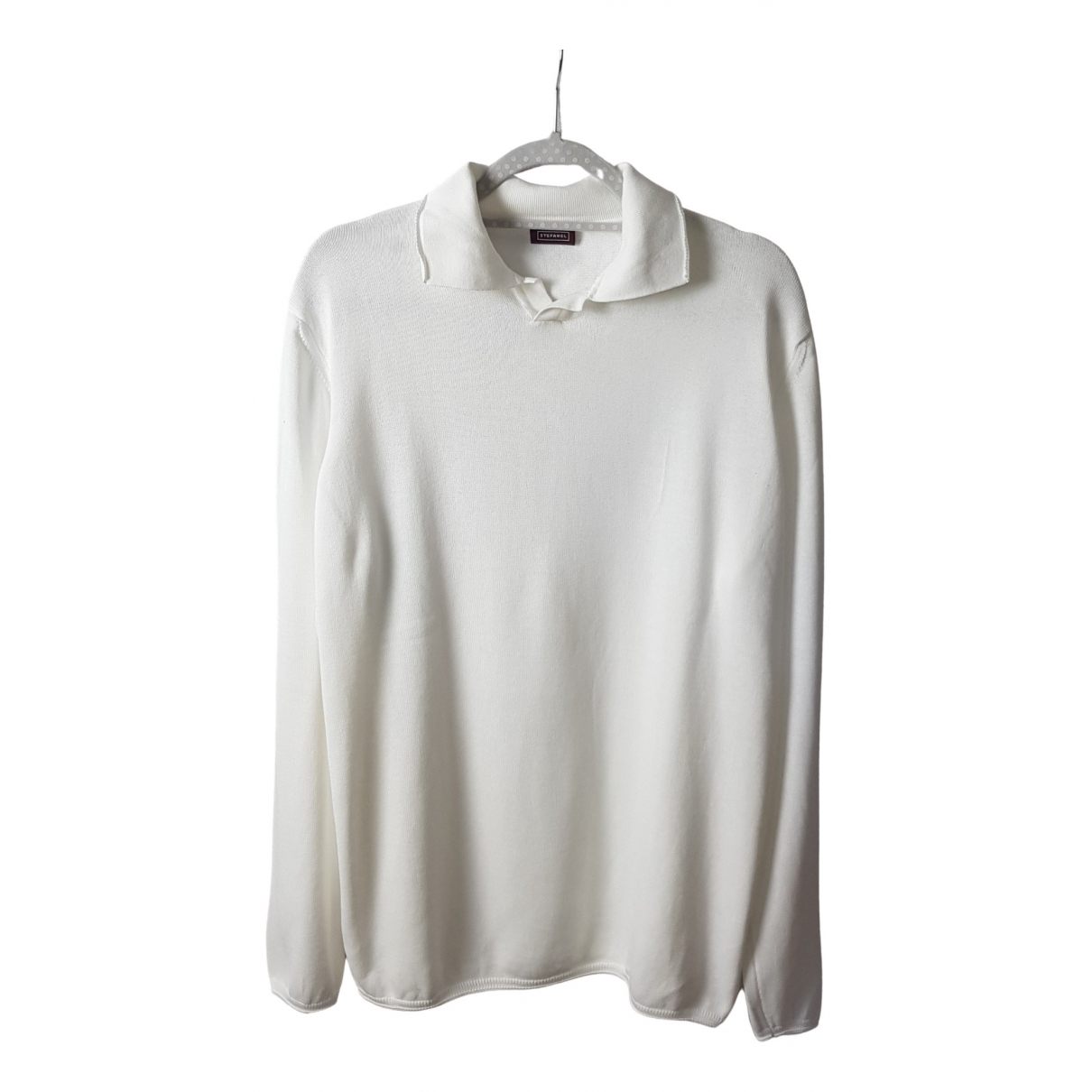 Stefanel \N White Cotton Knitwear & Sweatshirts for Men L International