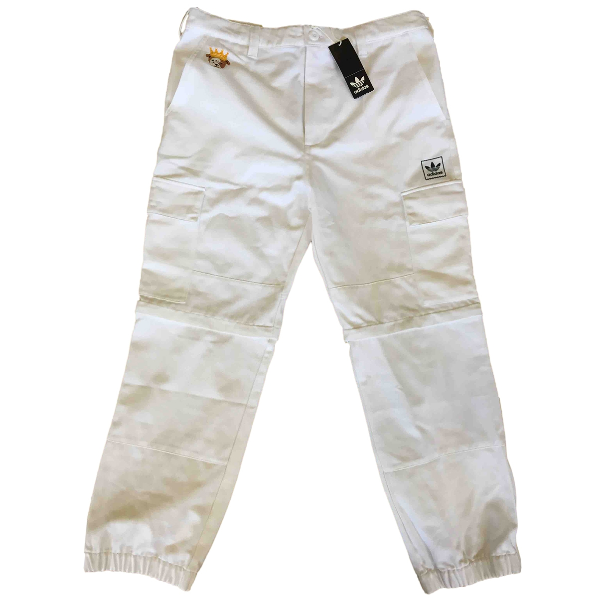 Adidas \N White Cotton Trousers for Men 34 UK - US