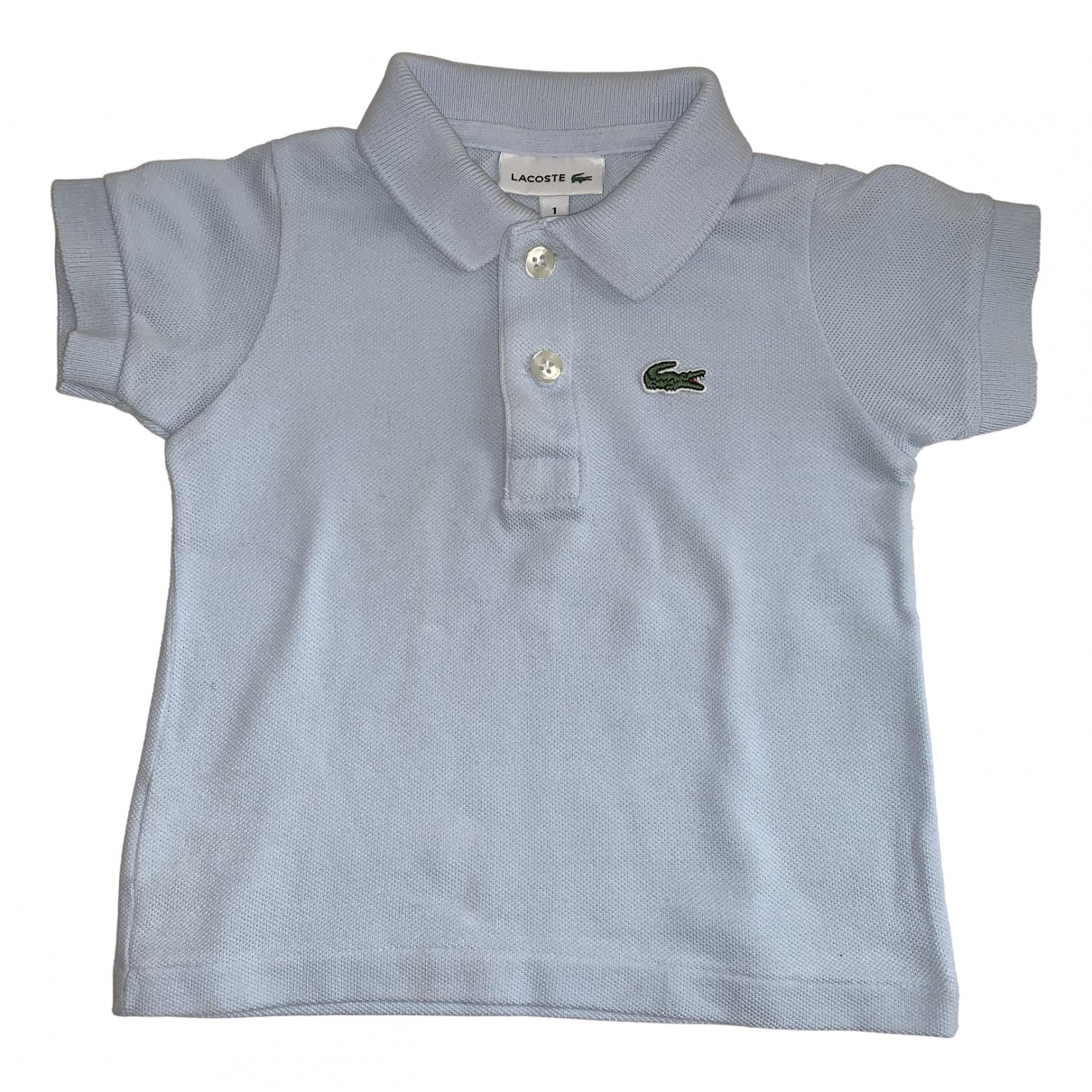 Lacoste N Blue Cotton  top for Kids 12 months - up to 74cm FR