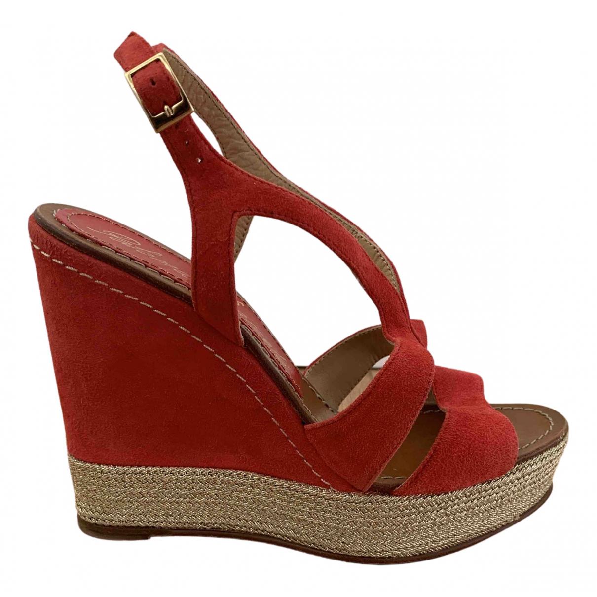 Paloma Barcelo \N Sandalen in  Rot Leder