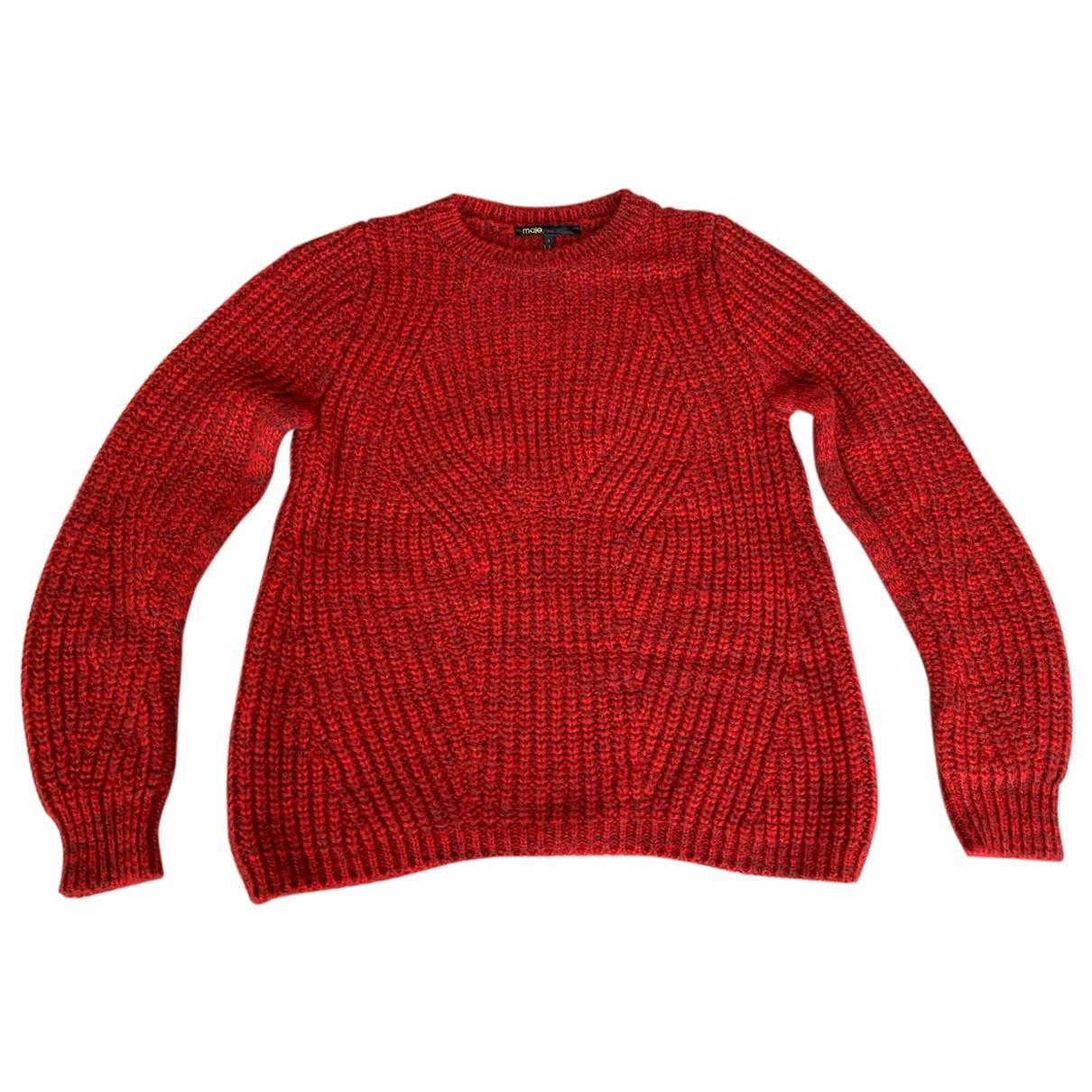 Maje - Pull   pour femme en laine - rouge