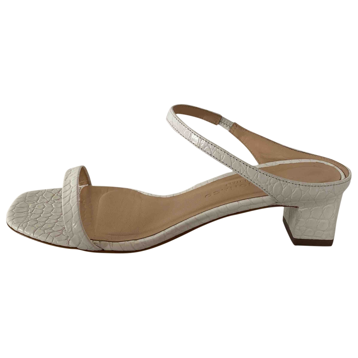 Club Monaco \N White Leather Sandals for Women 37.5 IT
