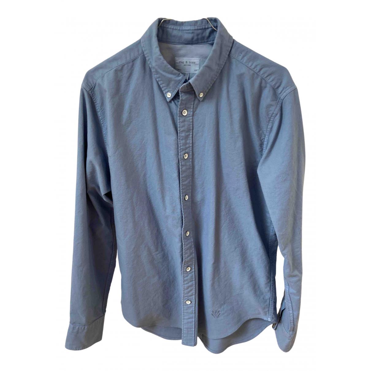 Rag & Bone - Chemises   pour homme en coton - bleu