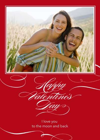 Valentine's Cards 5x7 Cards, Premium Cardstock 120lb, Card & Stationery -Elegant Valentine