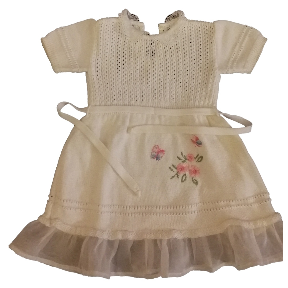 - Robe    pour enfant en coton - blanc