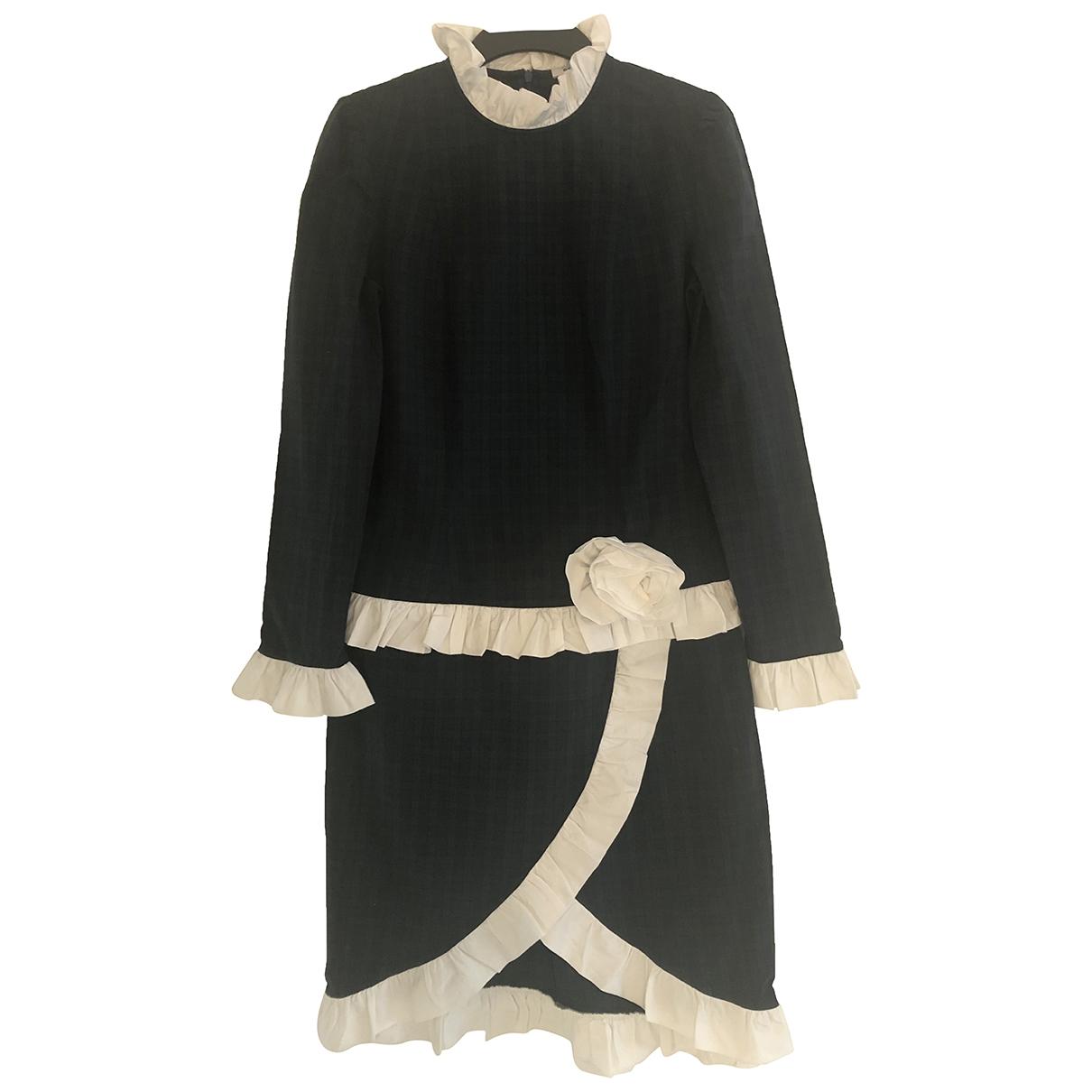 Batsheva \N Kleid in  Blau Baumwolle