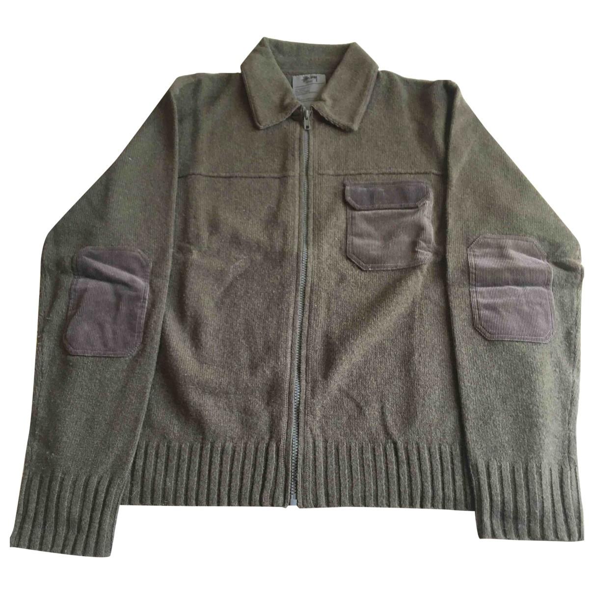 Stussy \N Pullover.Westen.Sweatshirts  in  Khaki Wolle