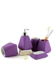 Fantastic Simple Solid Color Ceramic Bathroom Accessories