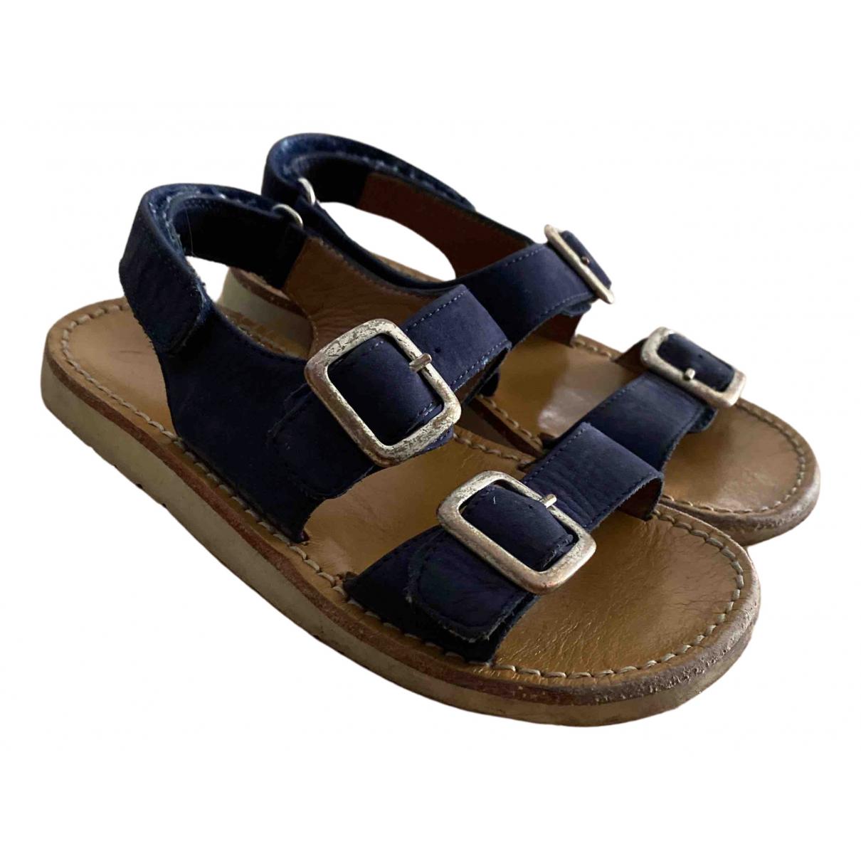 Pom Dapi \N Sandalen in  Blau Leder