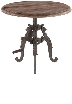 Regina Collection ZWRG2434 24-Inch Adjustable Crank Side Table with Reclaimed Teak Top in