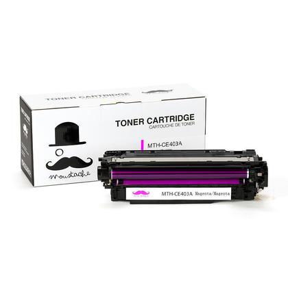 Compatible HP 507A CE403A cartouche de toner magenta - Moustache®