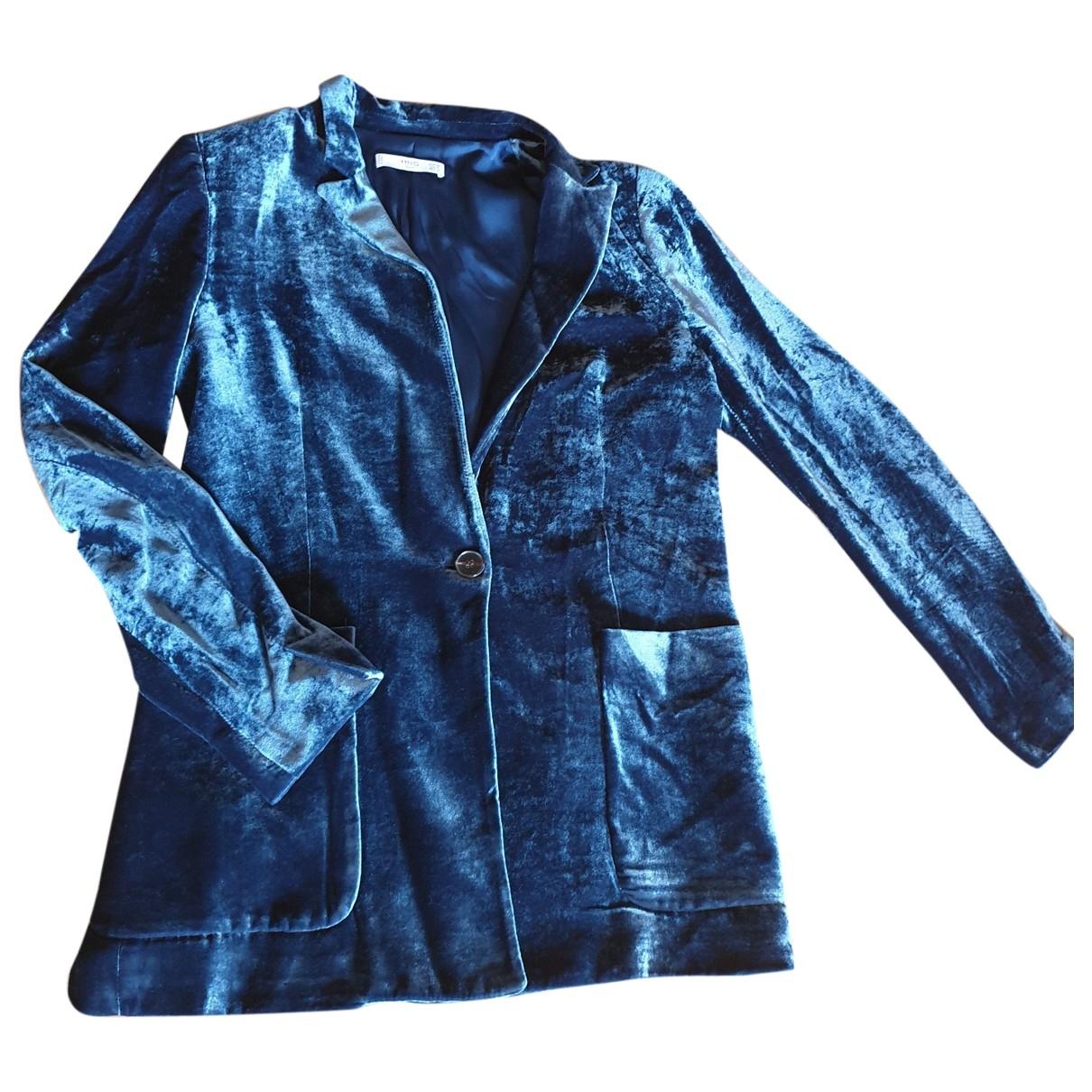 Mango \N Blue Velvet jacket for Women 6 US