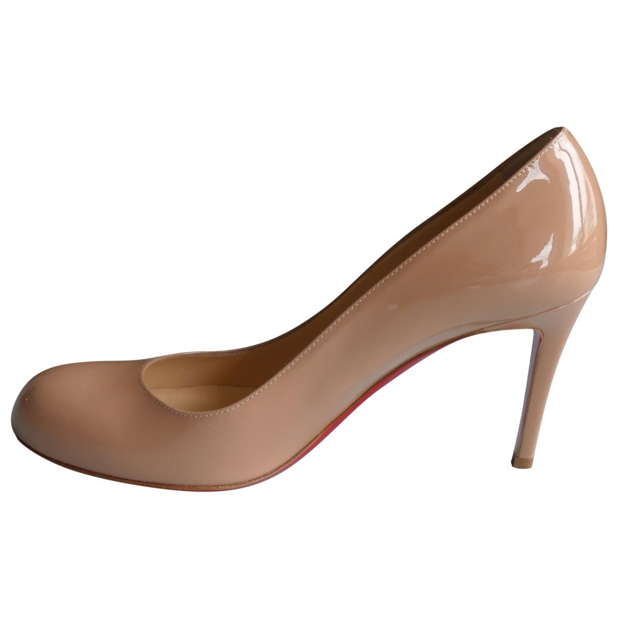 Christian Louboutin Simple pump Beige Patent leather Heels for Women 36.5 EU