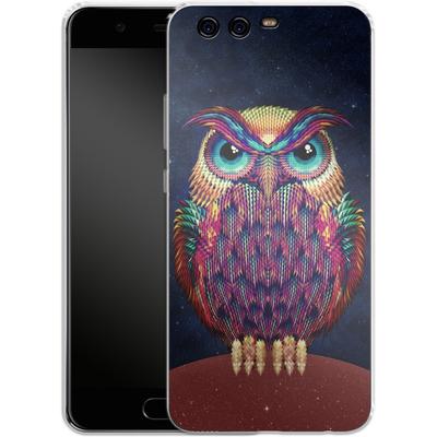 Huawei P10 Silikon Handyhuelle - Owl von Ali Gulec