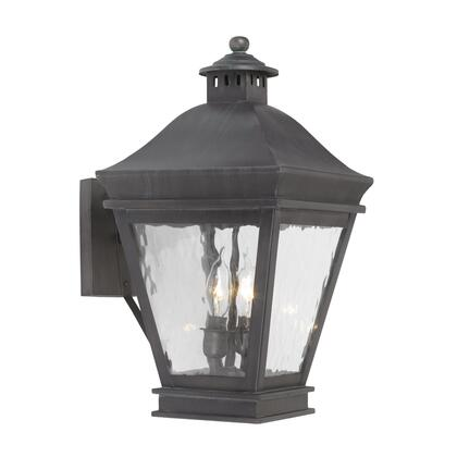 5721-C Outdoor Wall Lantern Landings Collection in Solid Brass in a Charcoal