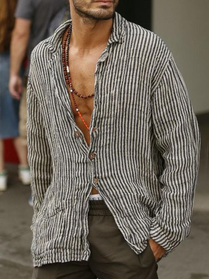 Ericdress Casual Stripe Loose Shirt