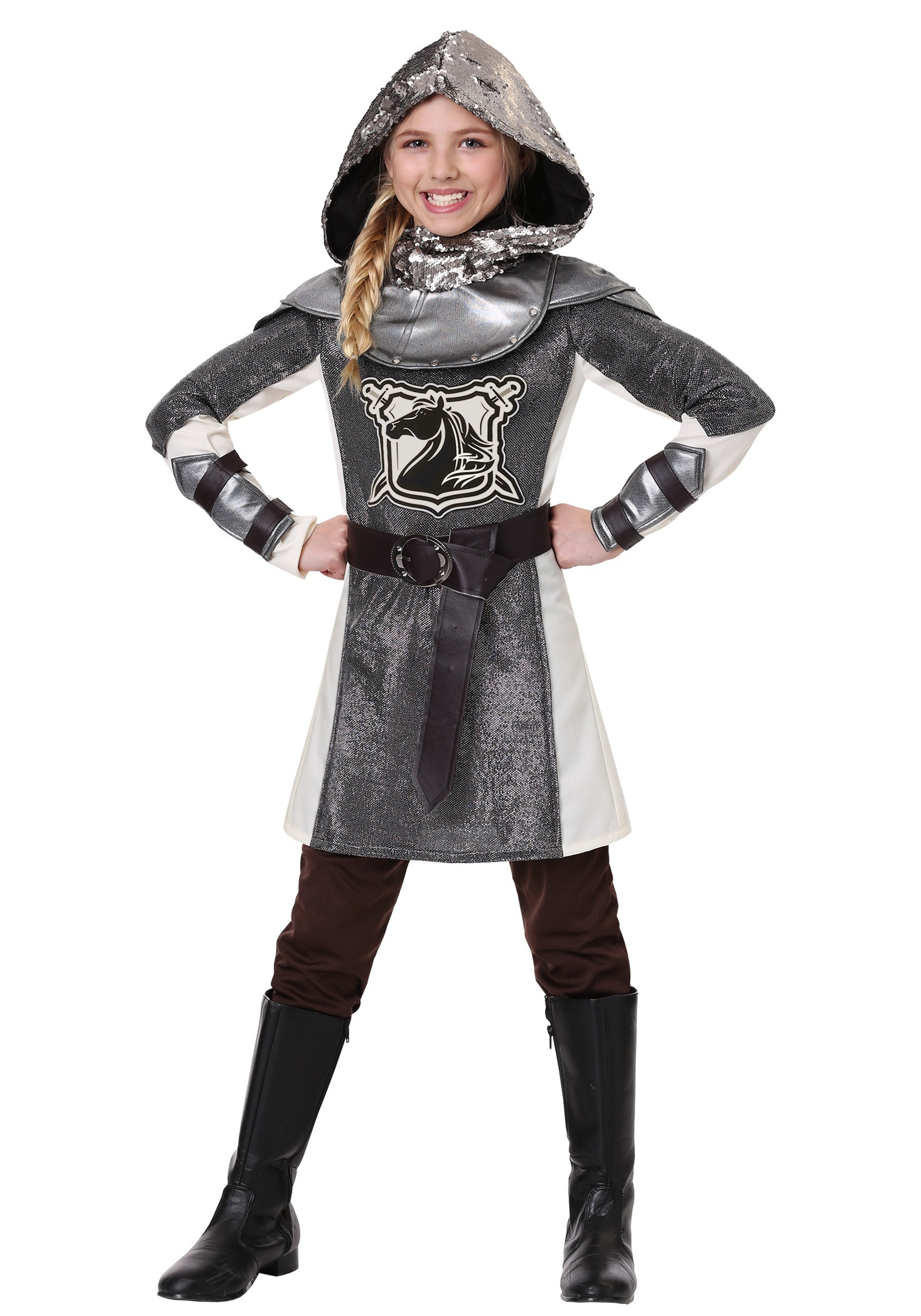 Medieval Knight Costume For Girls