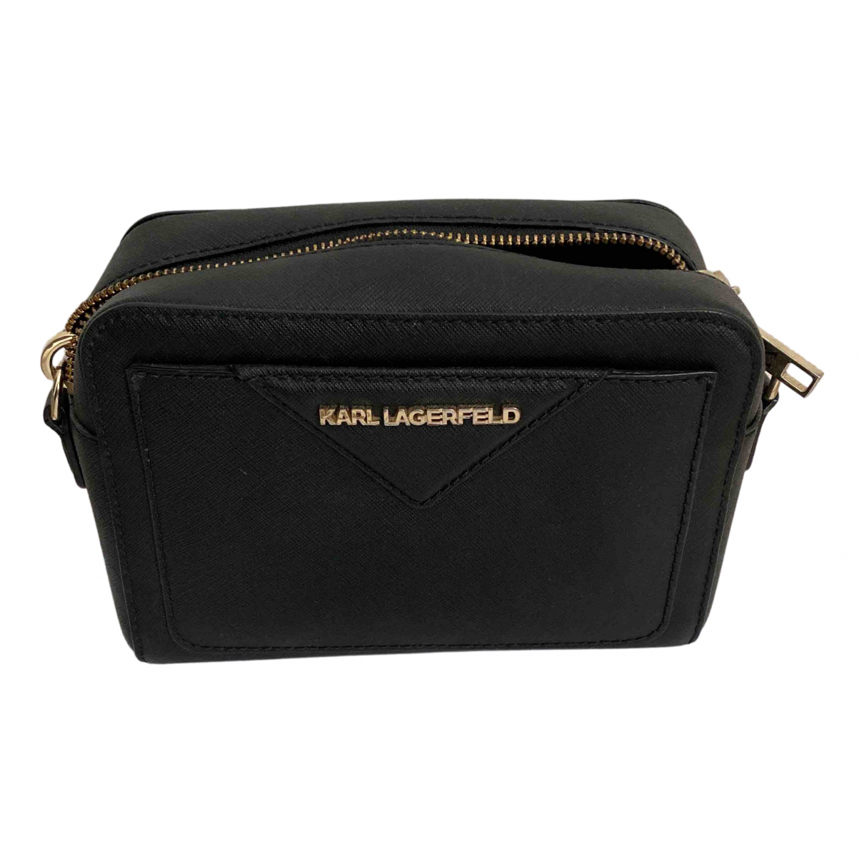 Karl \N Black Leather handbag for Women \N