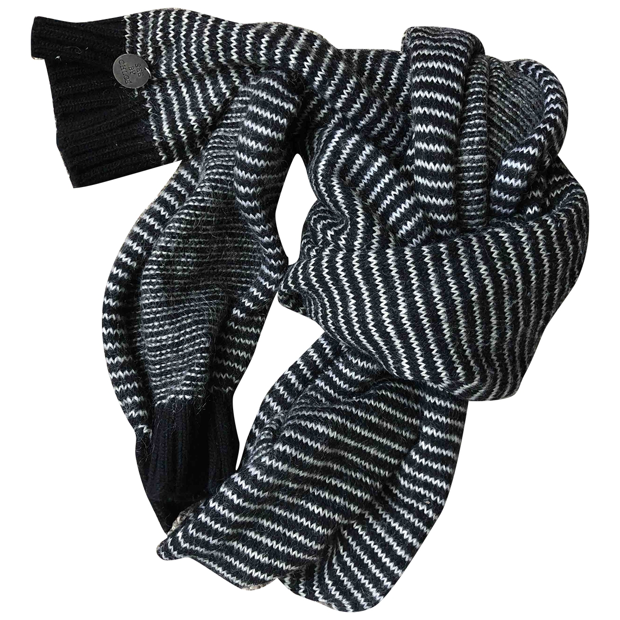See By Chloe - Foulard   pour femme en laine - noir