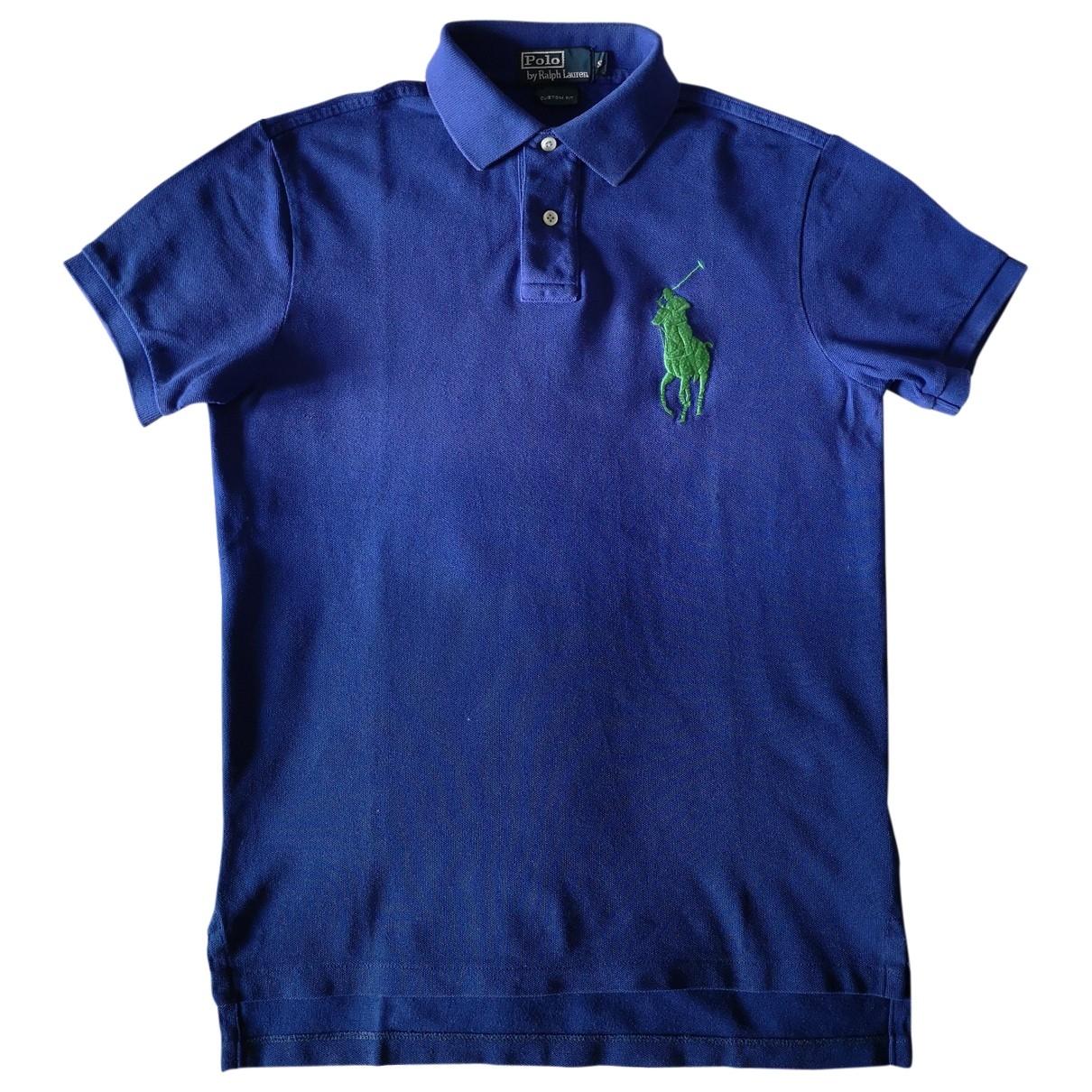 Polo Ralph Lauren Polo ajuste manches courtes Poloshirts in  Blau Baumwolle