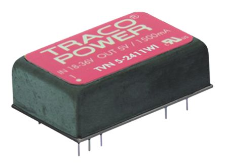 TRACOPOWER TVN 5WI 5W Isolated DC-DC Converter Through Hole, Voltage in 9 → 36 V dc, Voltage out 3.3V dc