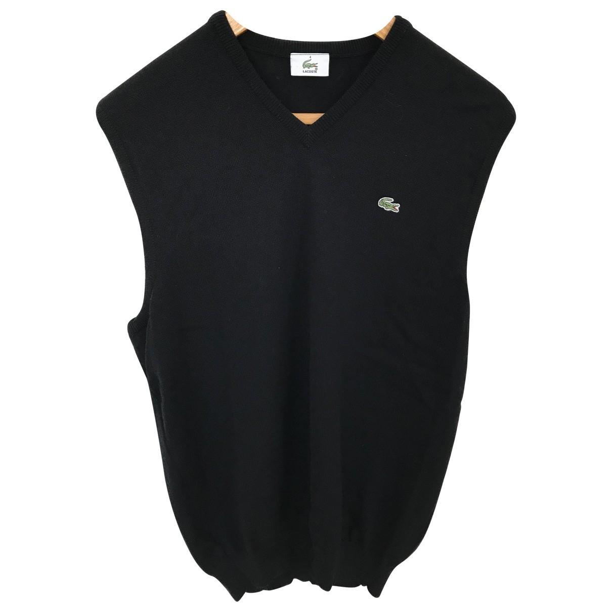 Lacoste \N Pullover.Westen.Sweatshirts  in  Schwarz Wolle