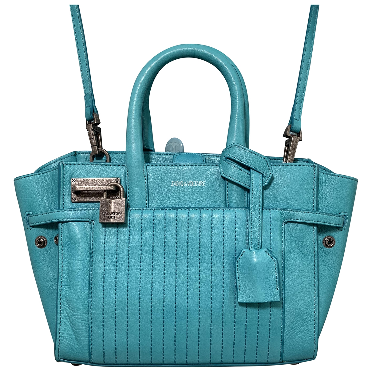 Zadig & Voltaire Candide Blue Leather handbag for Women \N