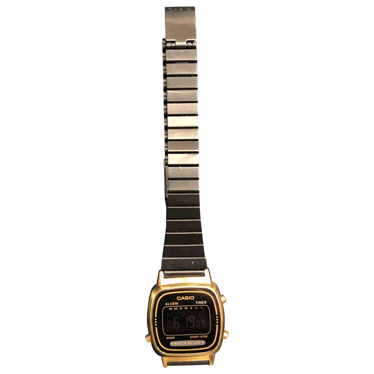 Casio \N Black Steel watch for Women \N