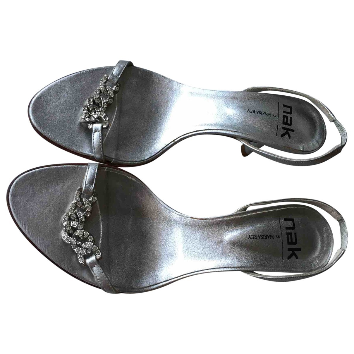 Non Signé / Unsigned \N Silver Leather Sandals for Women 37 EU