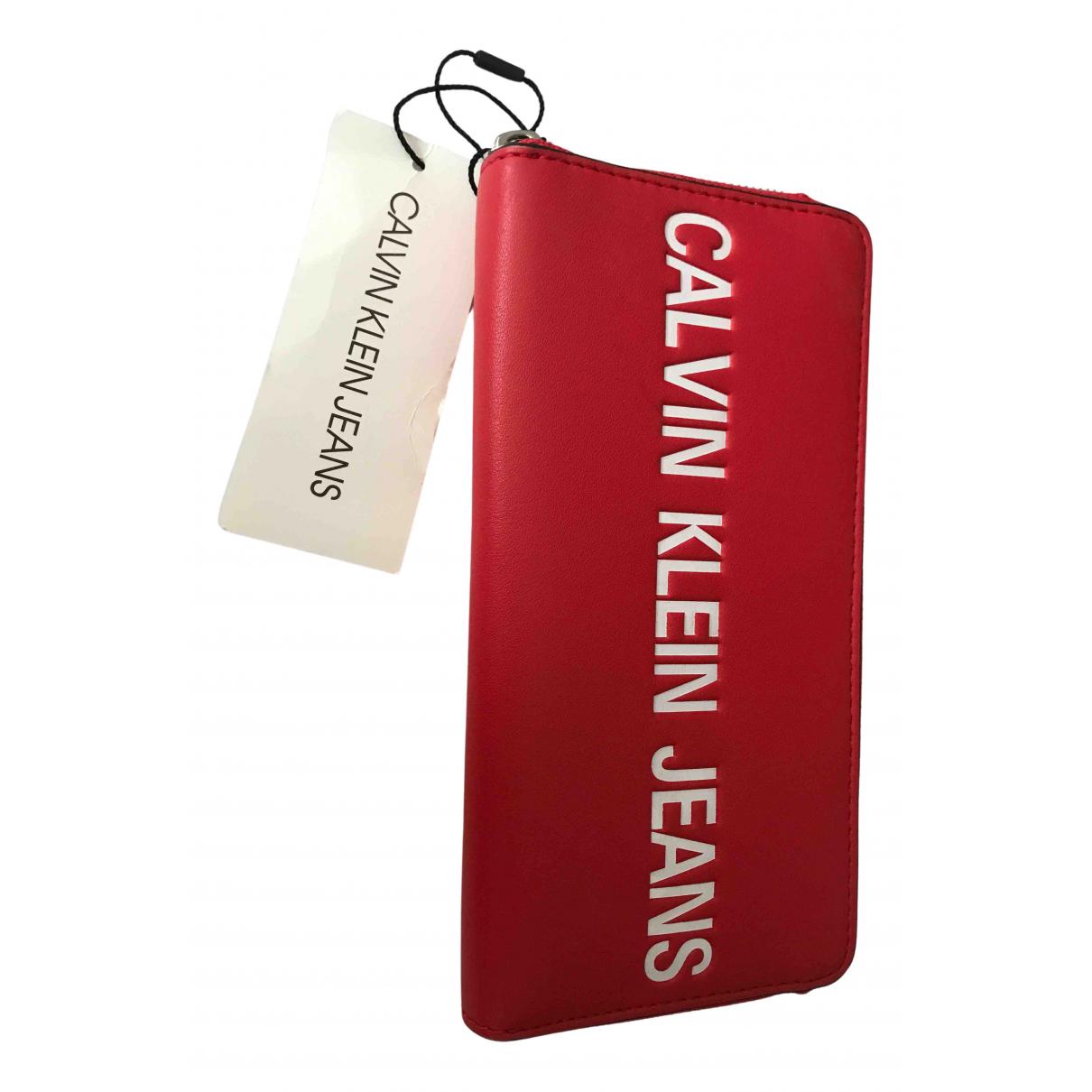 Calvin Klein - Portefeuille   pour femme en autre - rouge