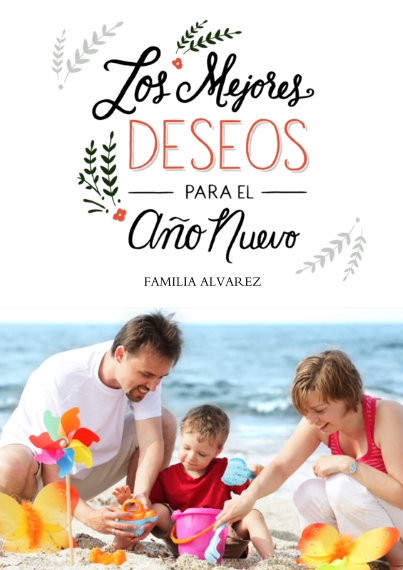 Holiday Photo Cards 5x7 Cards, Premium Cardstock 120lb, Card & Stationery -Los Mejores Deseos
