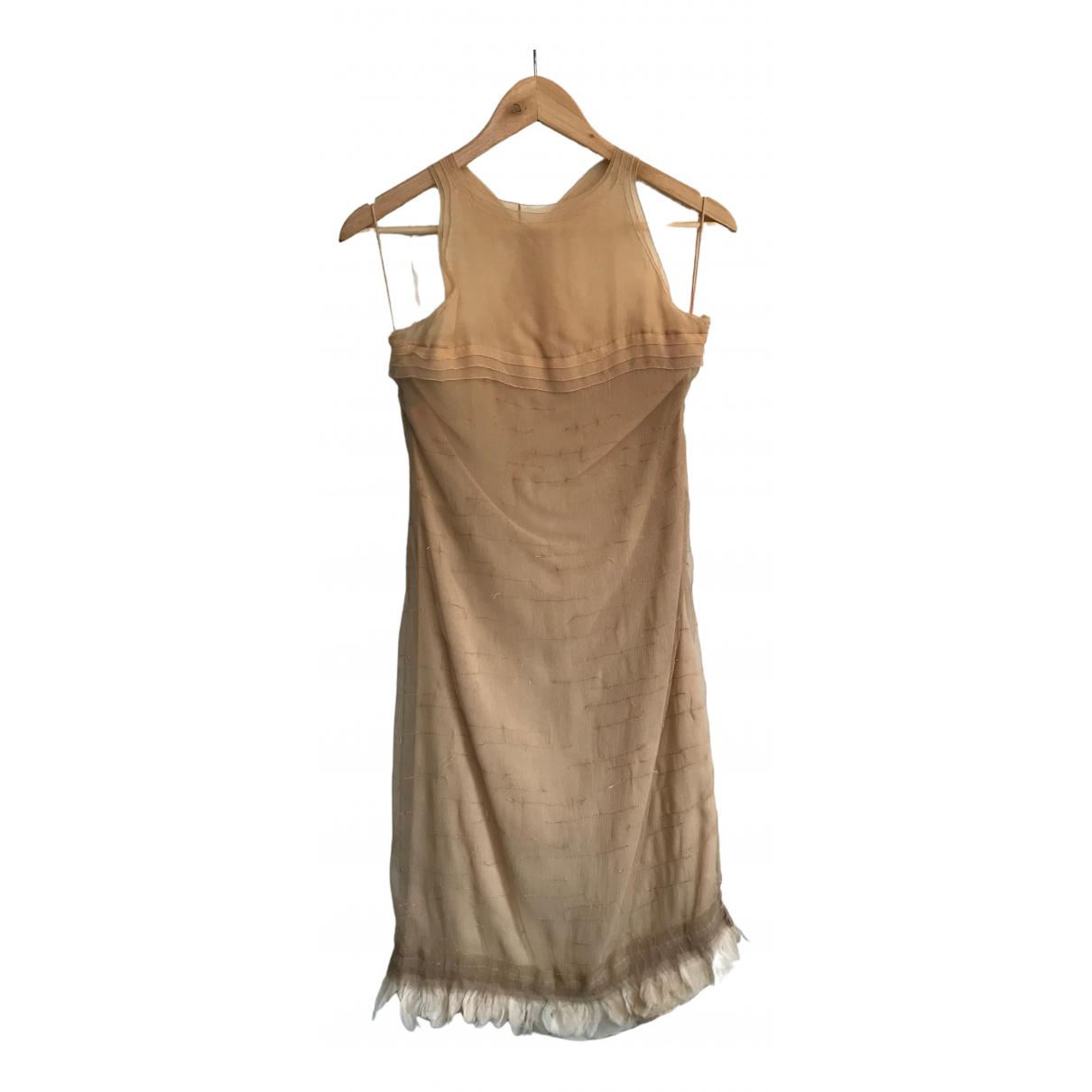 Alberta Ferretti \N Kleid in  Beige Synthetik