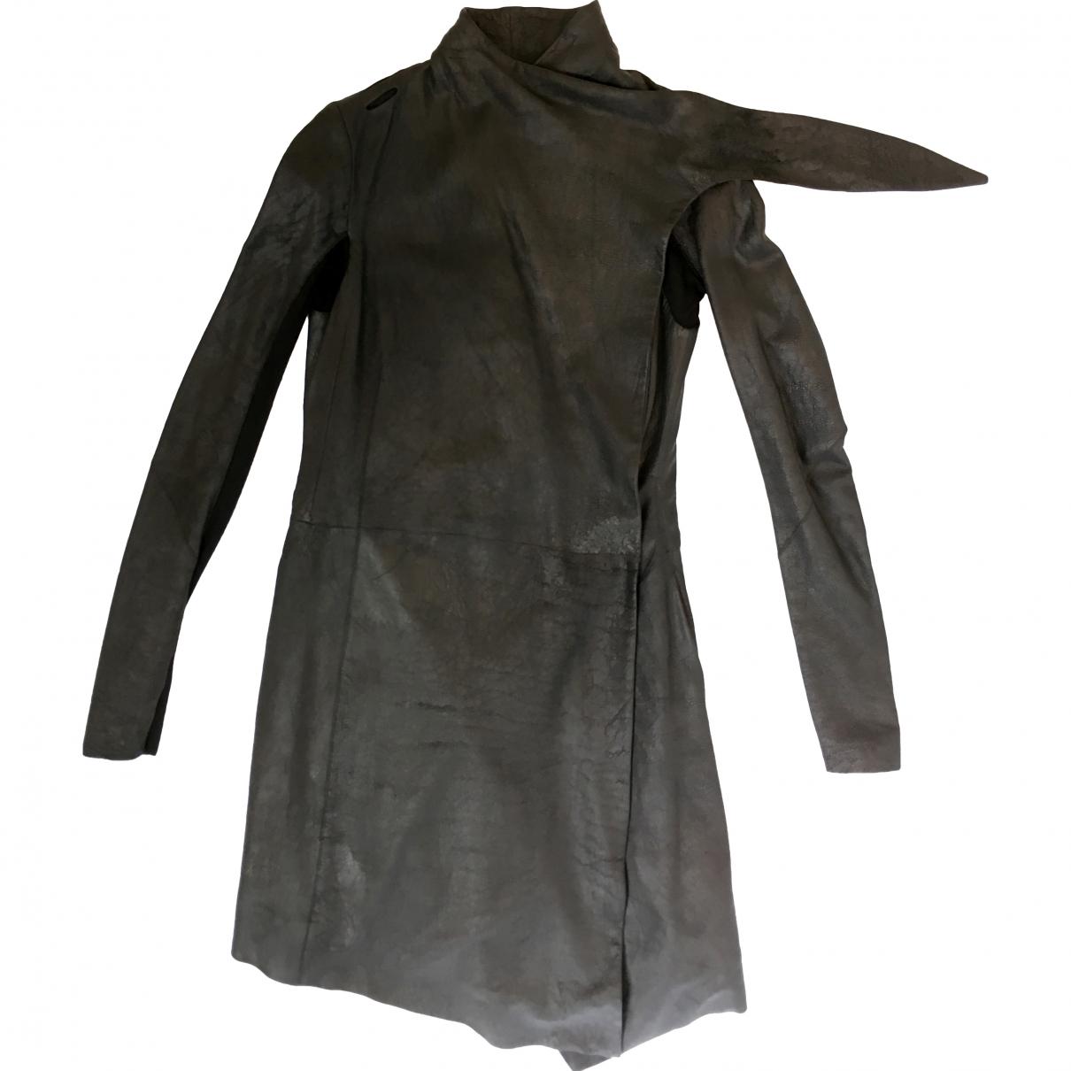 Rick Owens \N Black Leather coat for Women 12 US