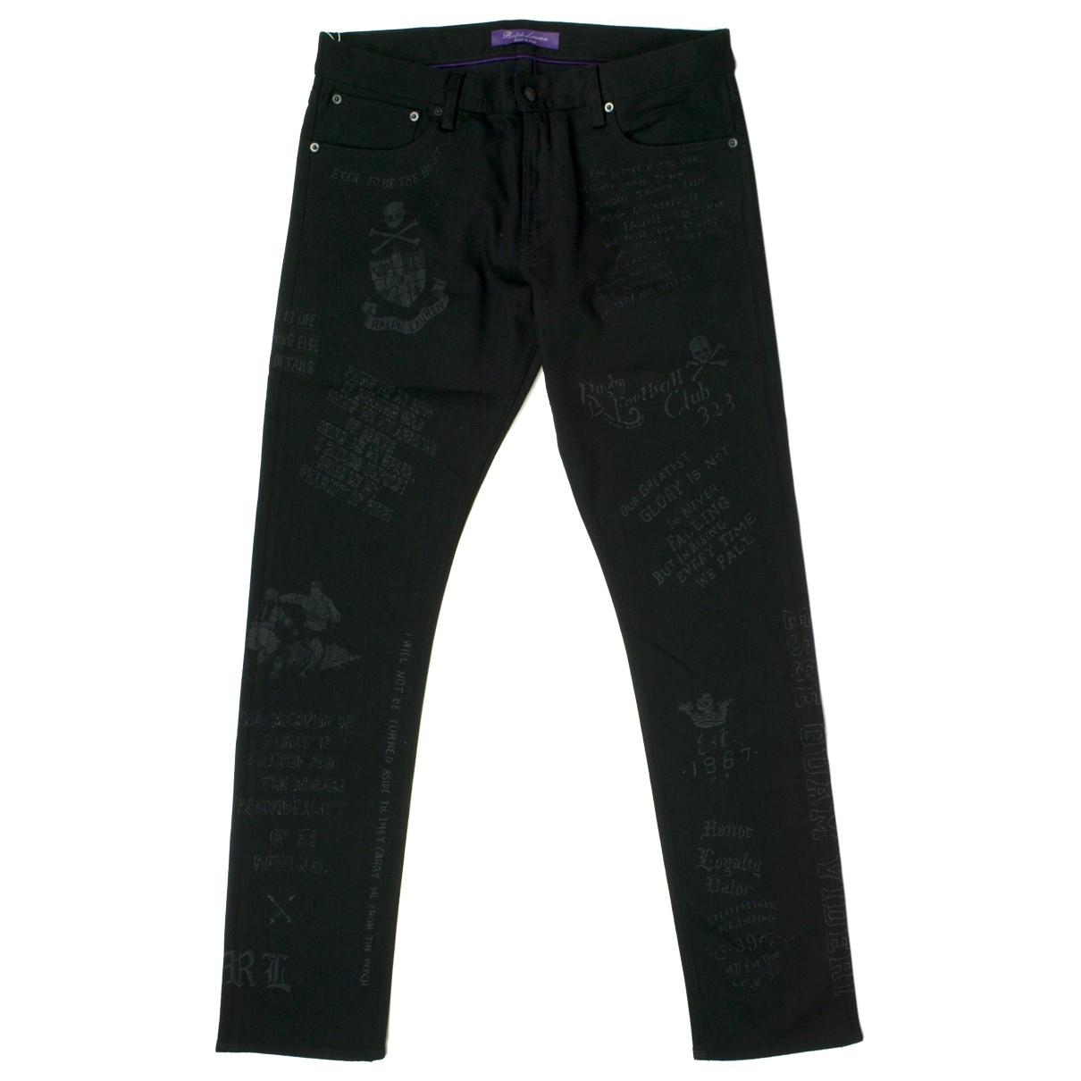 Ralph Lauren \N Black Cotton Jeans for Men 36 US